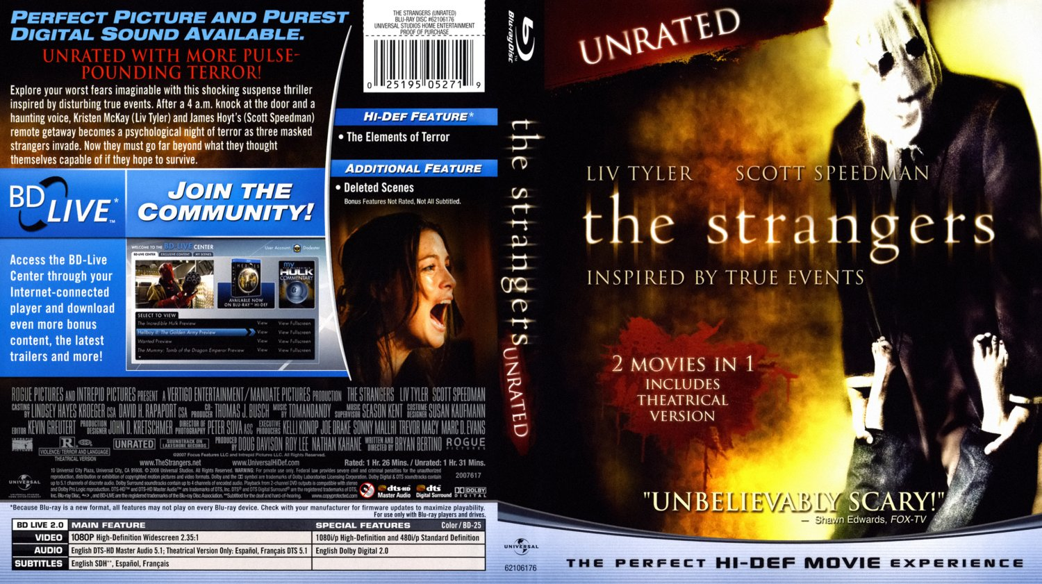 the strangers bd movie bluray scanned covers the