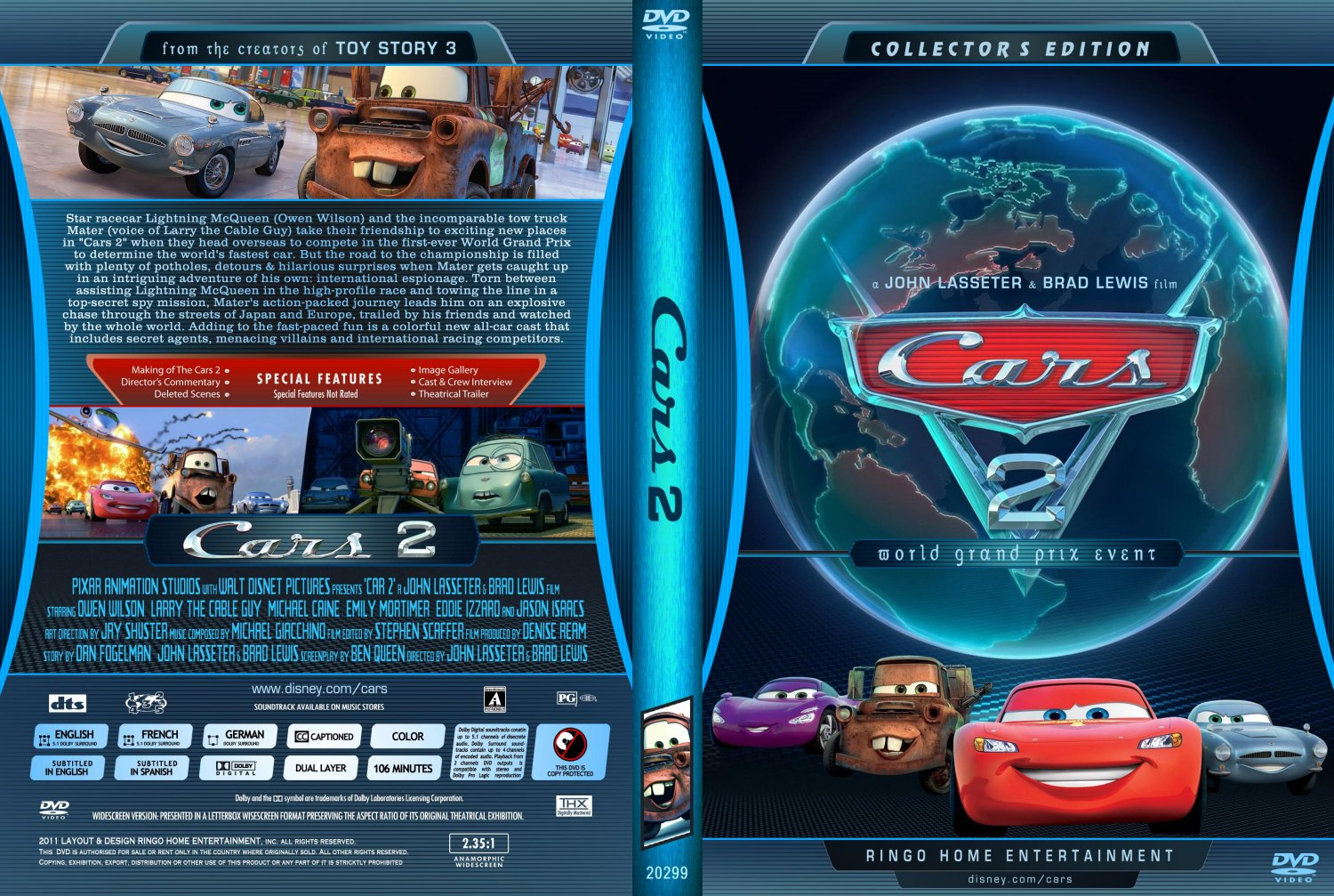cars 2 movie dvd custom covers copy of cars 2 dvd