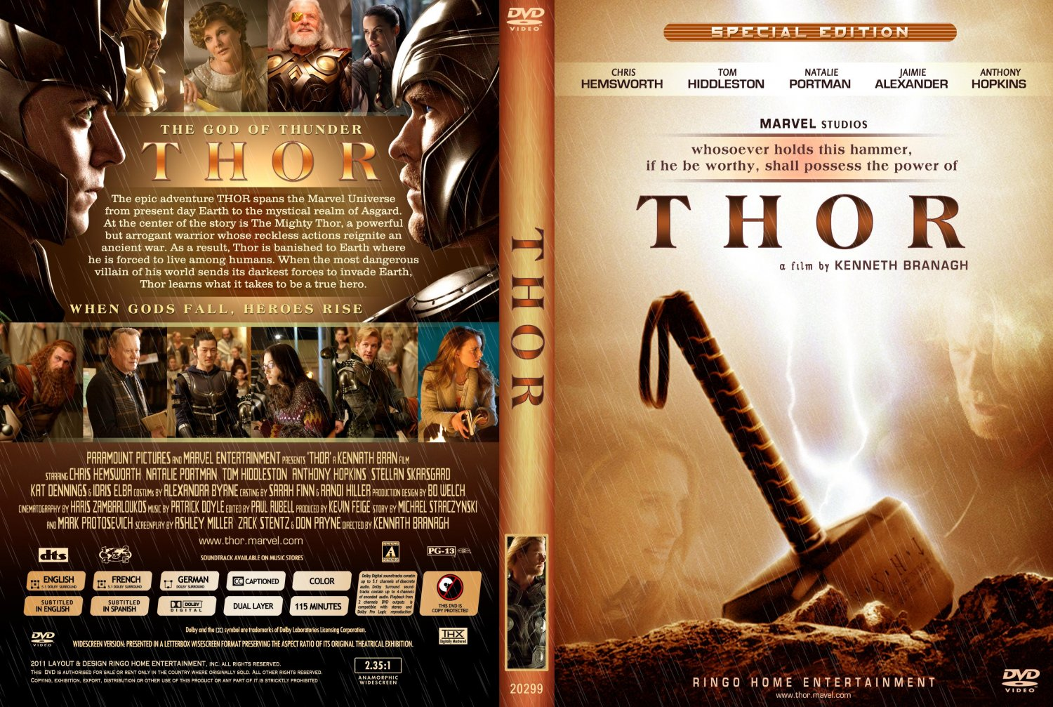 ... Movie DVD Custom Covers - Copy of Thor DVD Cover 2011 :: DVD Covers