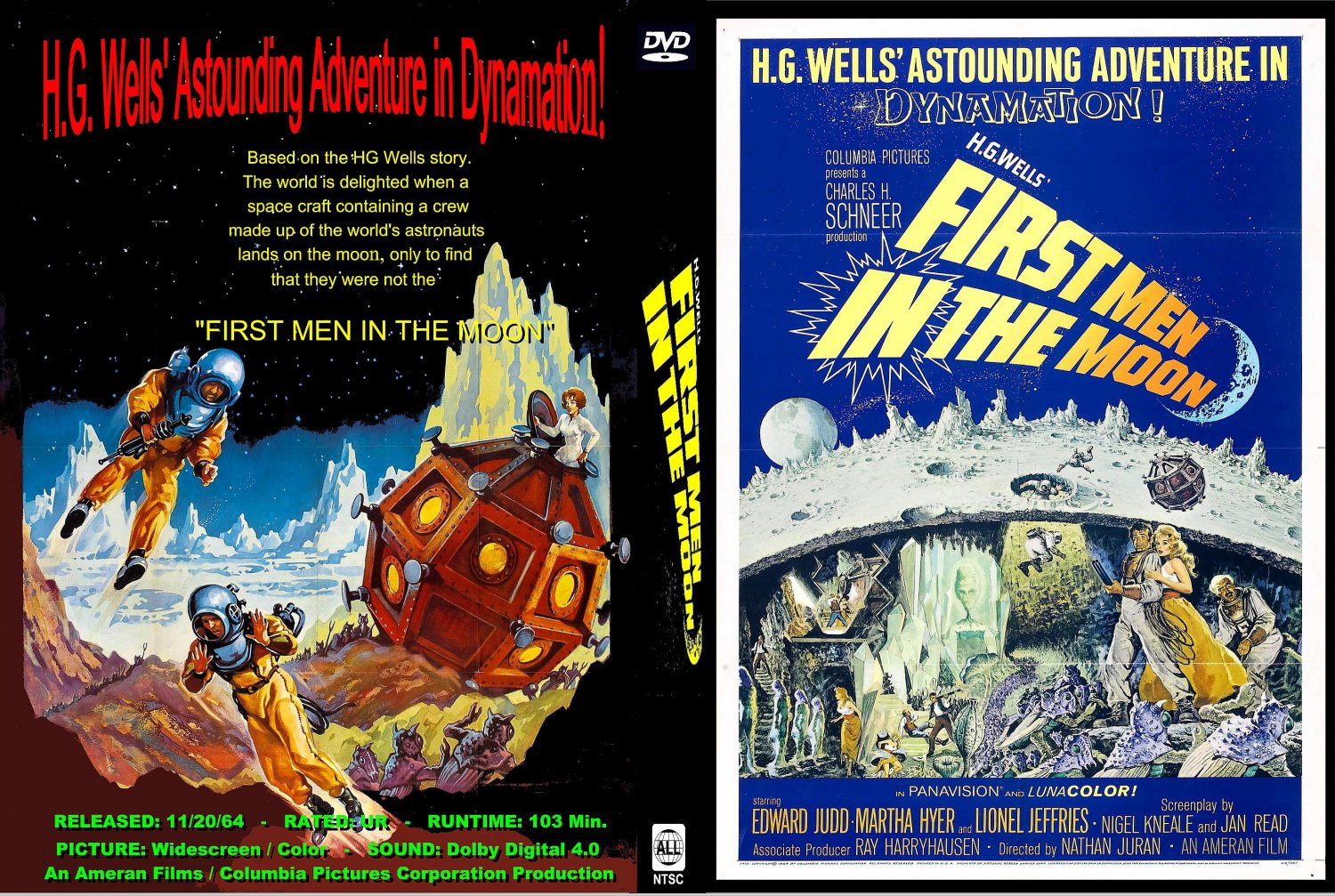 first men in the moon - movie dvd custom covers