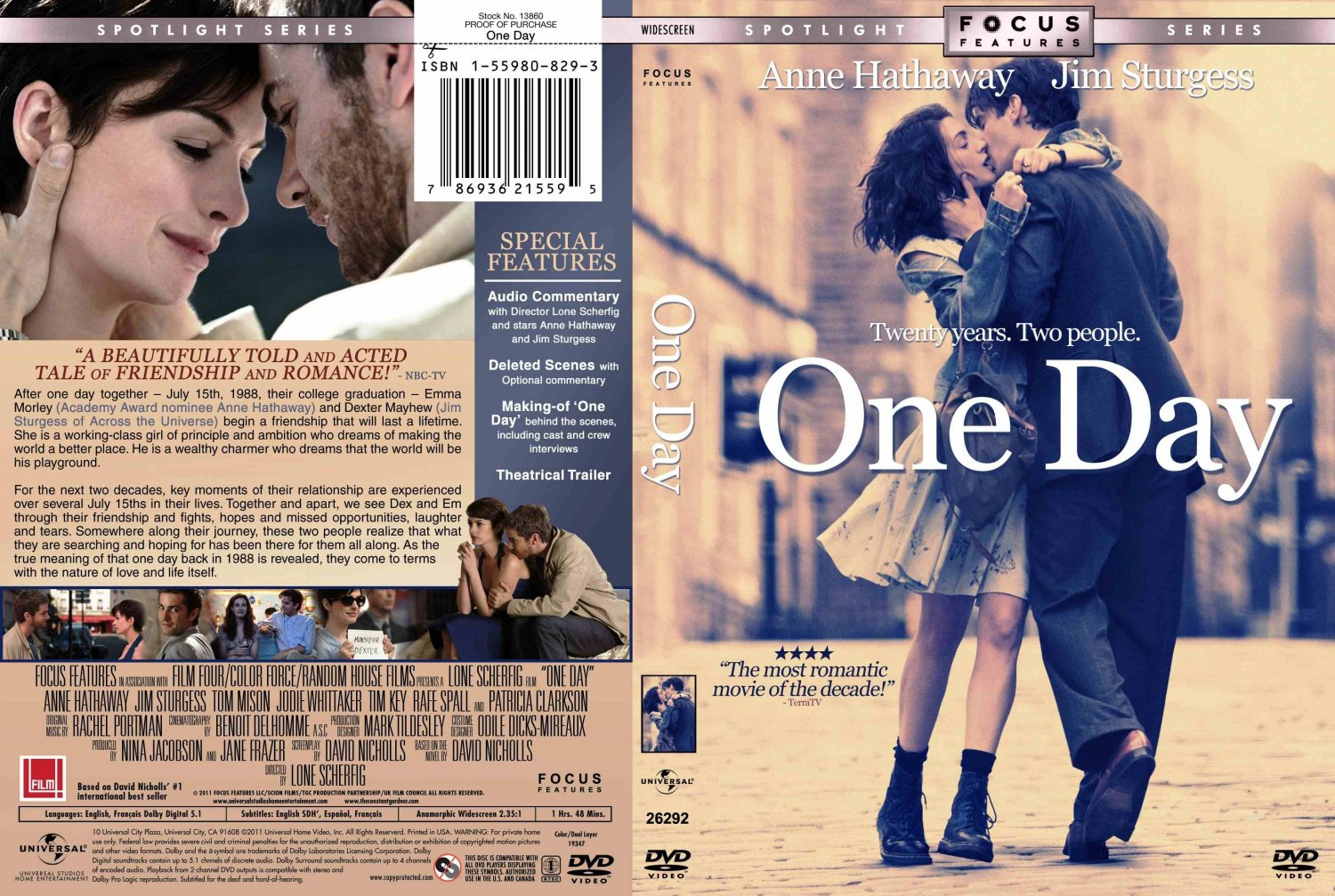 One Day  Movie DVD Custom Covers  one day :: DVD Covers