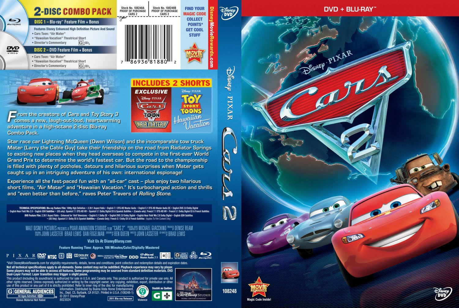 cars 2 movie dvd cover pictures to pin on pinterest pinsdaddy. Black Bedroom Furniture Sets. Home Design Ideas