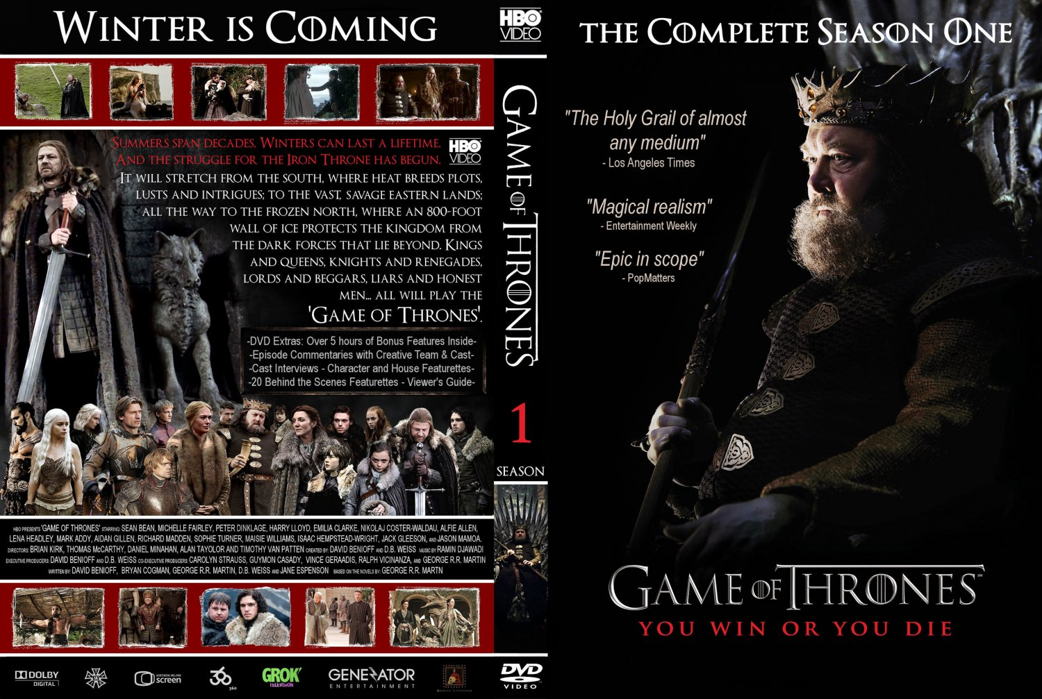 the gallery for game of thrones season 1 dvd cover. Black Bedroom Furniture Sets. Home Design Ideas