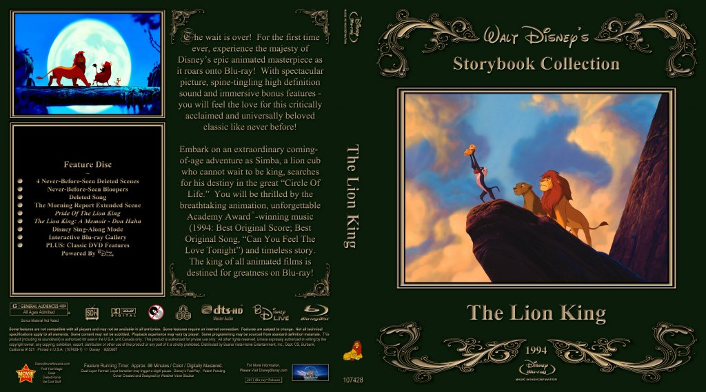 The Lion King - Movie Blu-Ray Custom Covers - Lion King1 :: DVD Covers