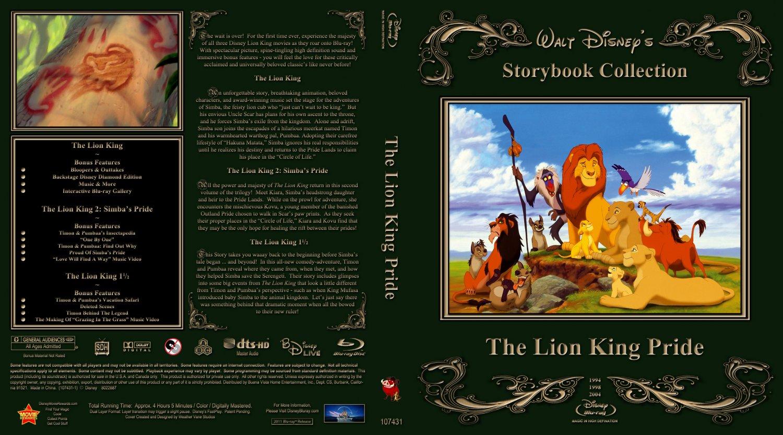 Lion King Pride - Movie Blu-Ray Custom Covers - Lion King Pride :: DVD ...