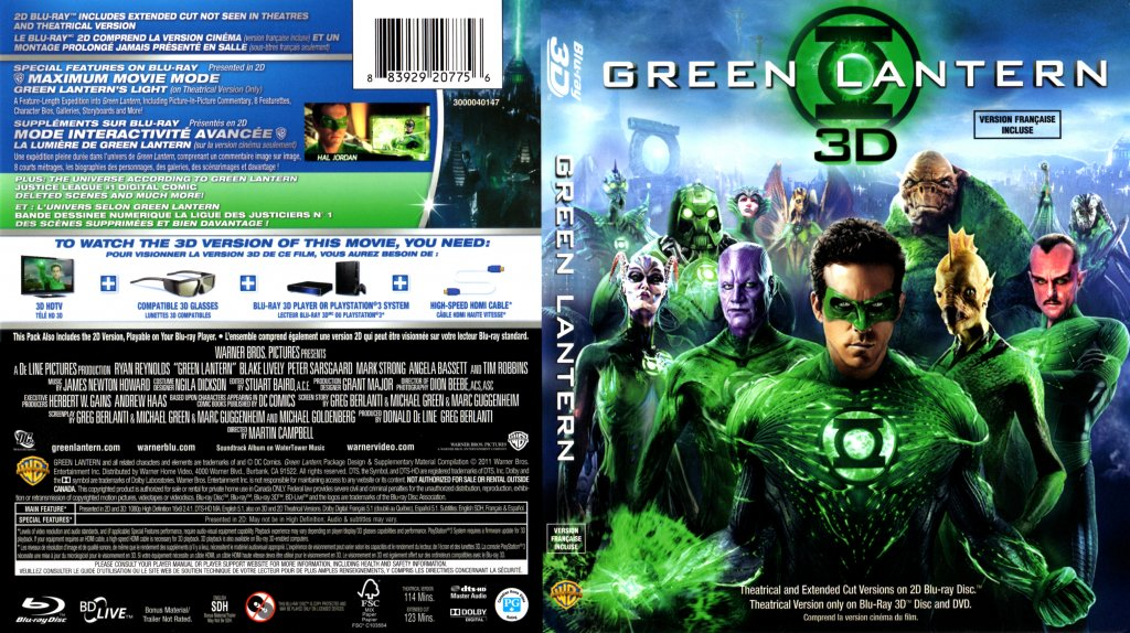 Green lantern green lantern 3d english french bluray date 10 31 2011