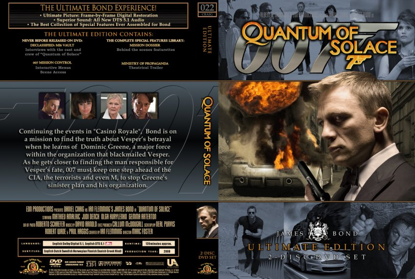 007 Quantum of Solace - Movie DVD Custom Covers - 22 Quantum of Solace ... Quantum Of Solace Cover