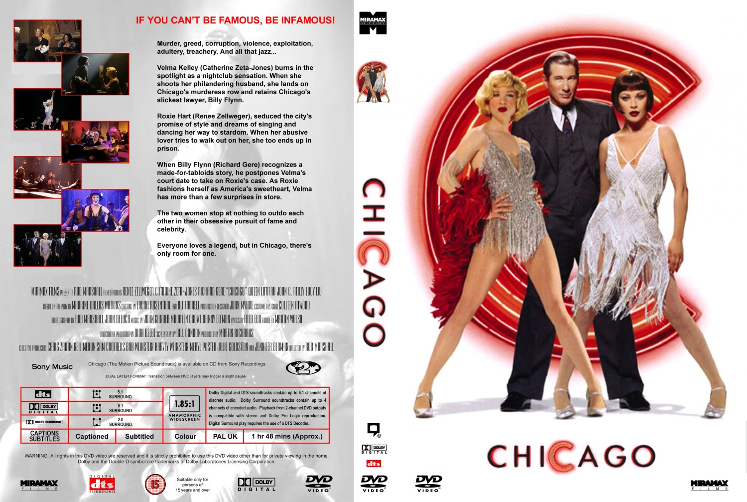 Chicago - Movie DVD Custom Covers - 211Chicago :: DVD Covers Catherine Zeta Jones