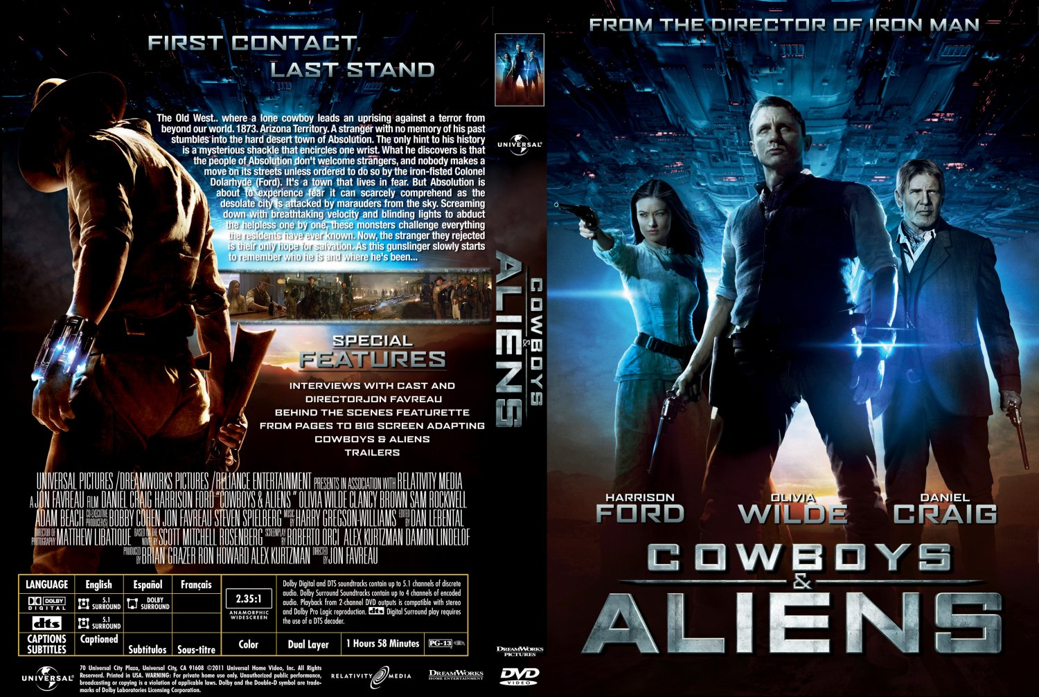 Cowboys and aliens dvd