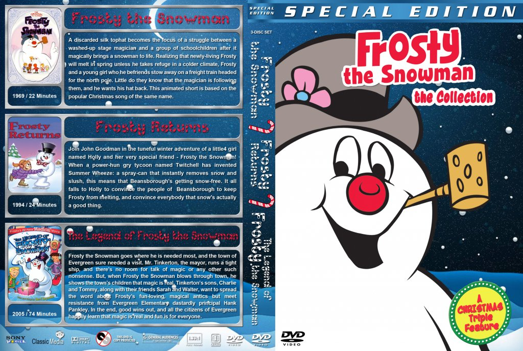 Frosty the Snowman Collection - Movie DVD Custom Covers - Frosty ...