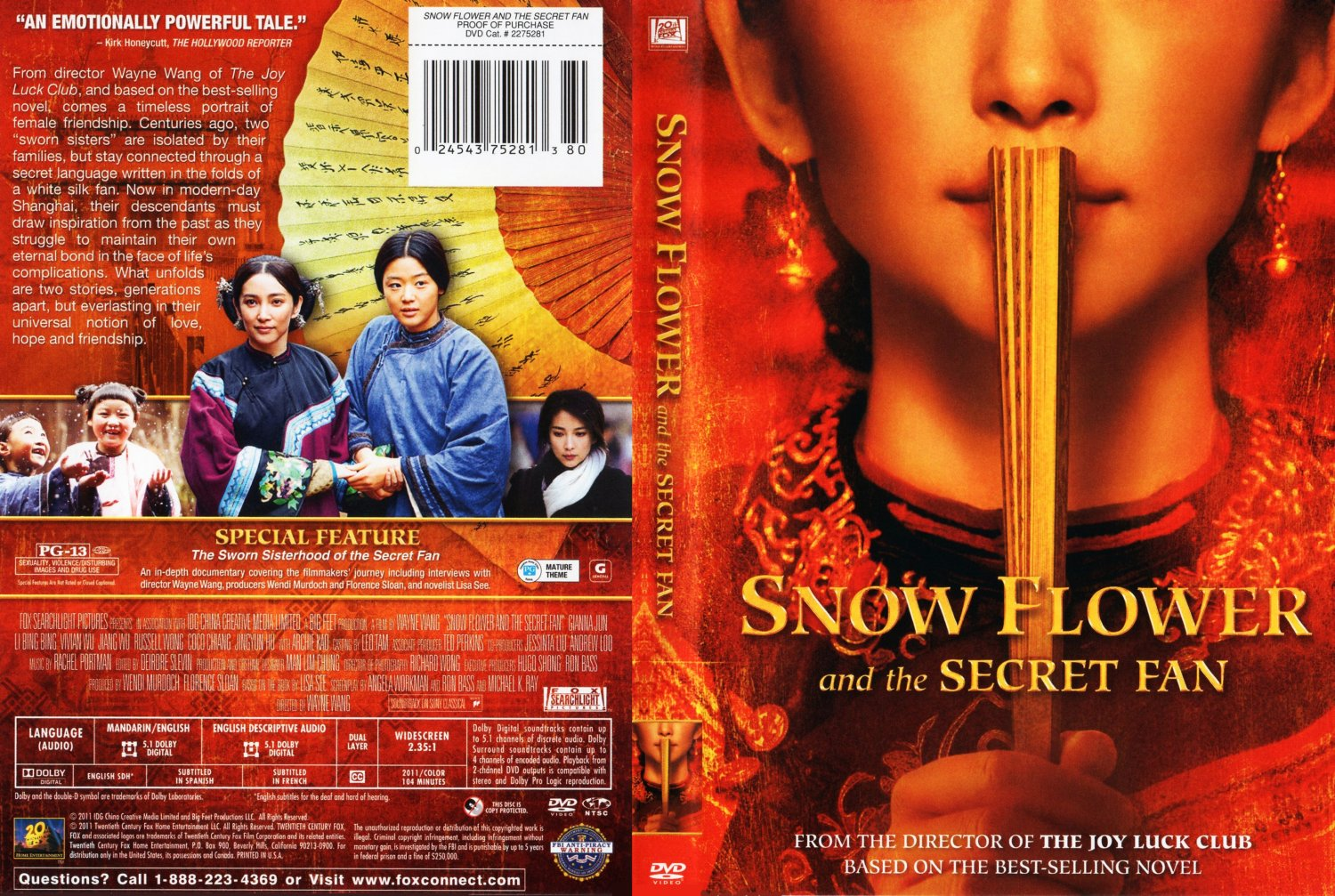 snow flower the secret fan Snow flower and the secret fan is a 2011 historical drama film based on the novel of the same name written by lisa see directed by wayne wang, the film star.