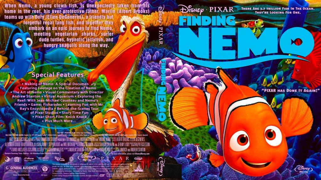 Finding Nemo - Movie Blu-Ray Custom Covers ...