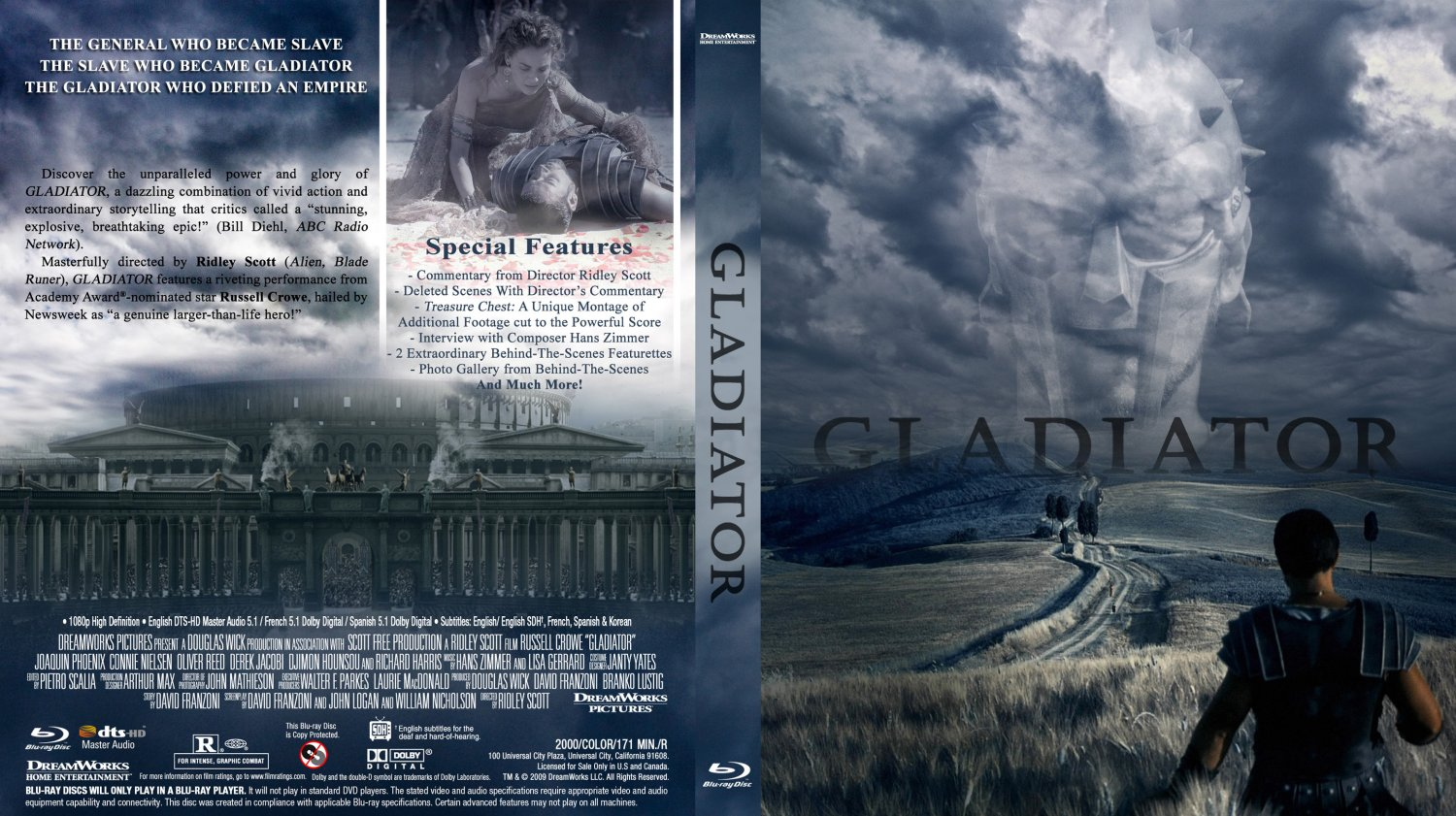 gladiator movie blu ray custom covers gladiator blu. Black Bedroom Furniture Sets. Home Design Ideas