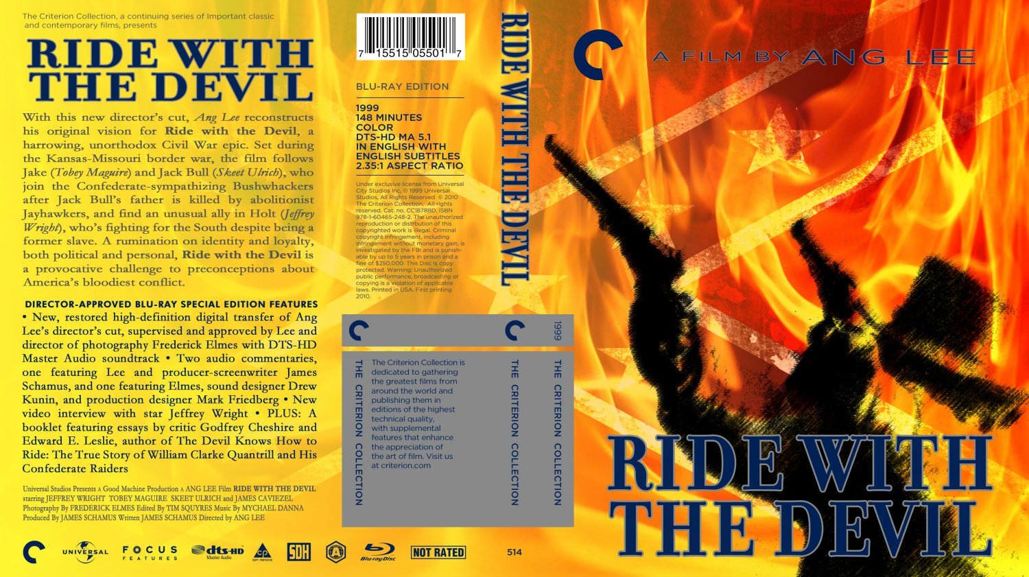 ride with the devil movie bluray custom covers