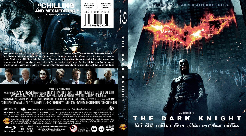 The Dark Knight - Movie Blu-Ray Custom Covers - The Dark ...