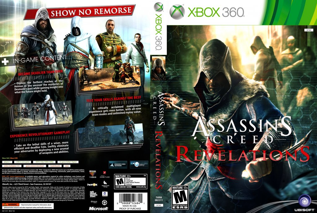 Assassin S Creed Revelations Xbox 360 Game Covers 2011 Acr