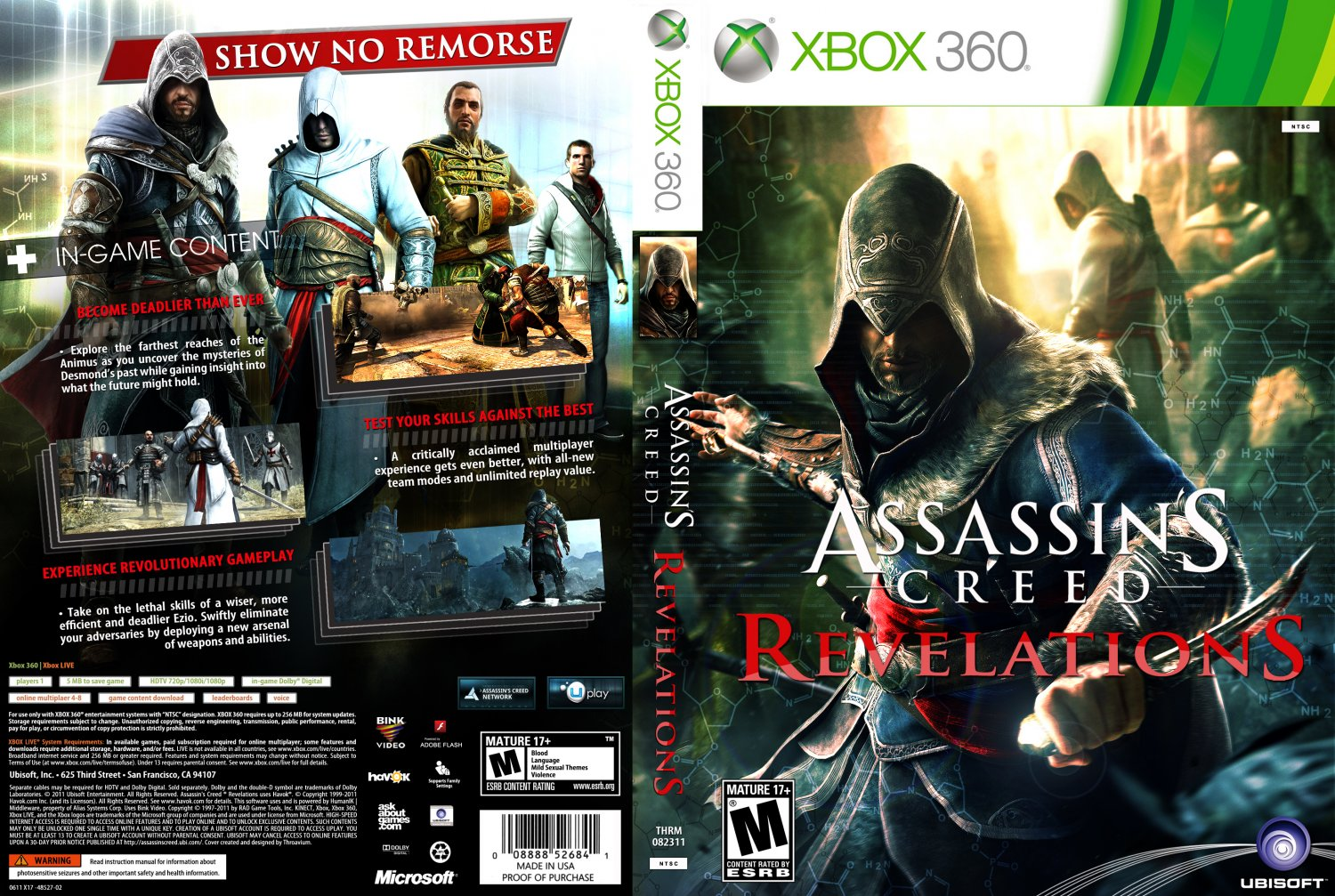 assassins creed revelations xbox 360 game covers