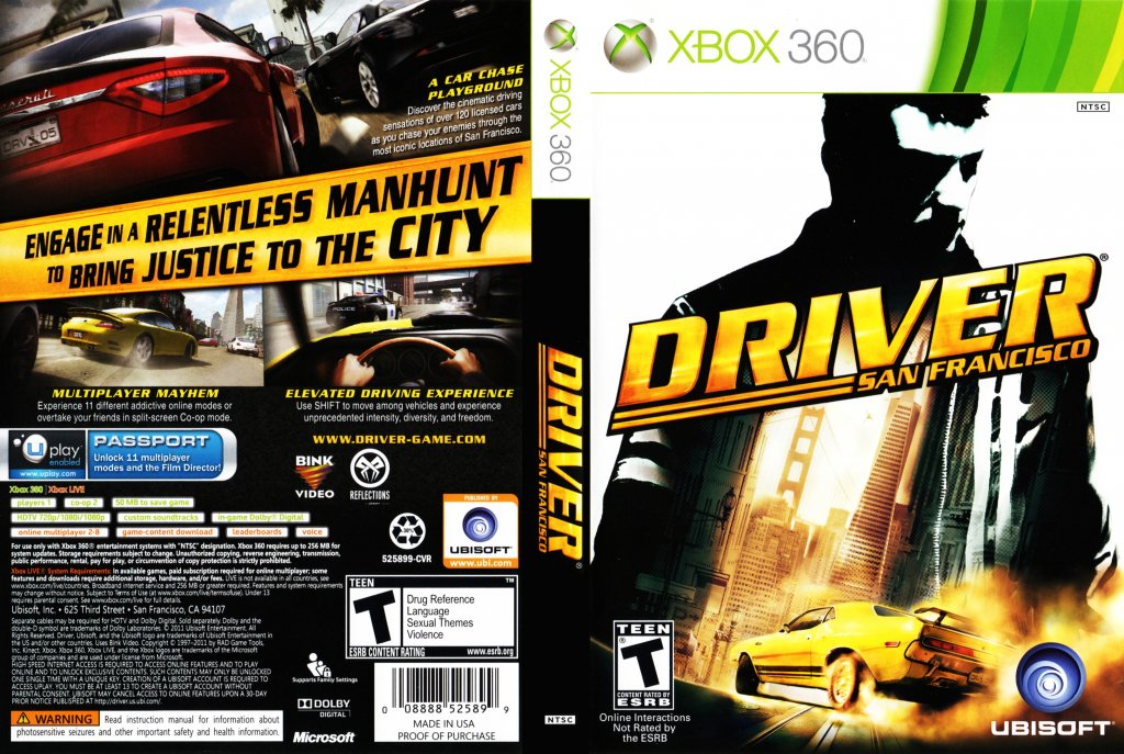 Driver san francisco (x360 xbox 360) experience the thrill of the.