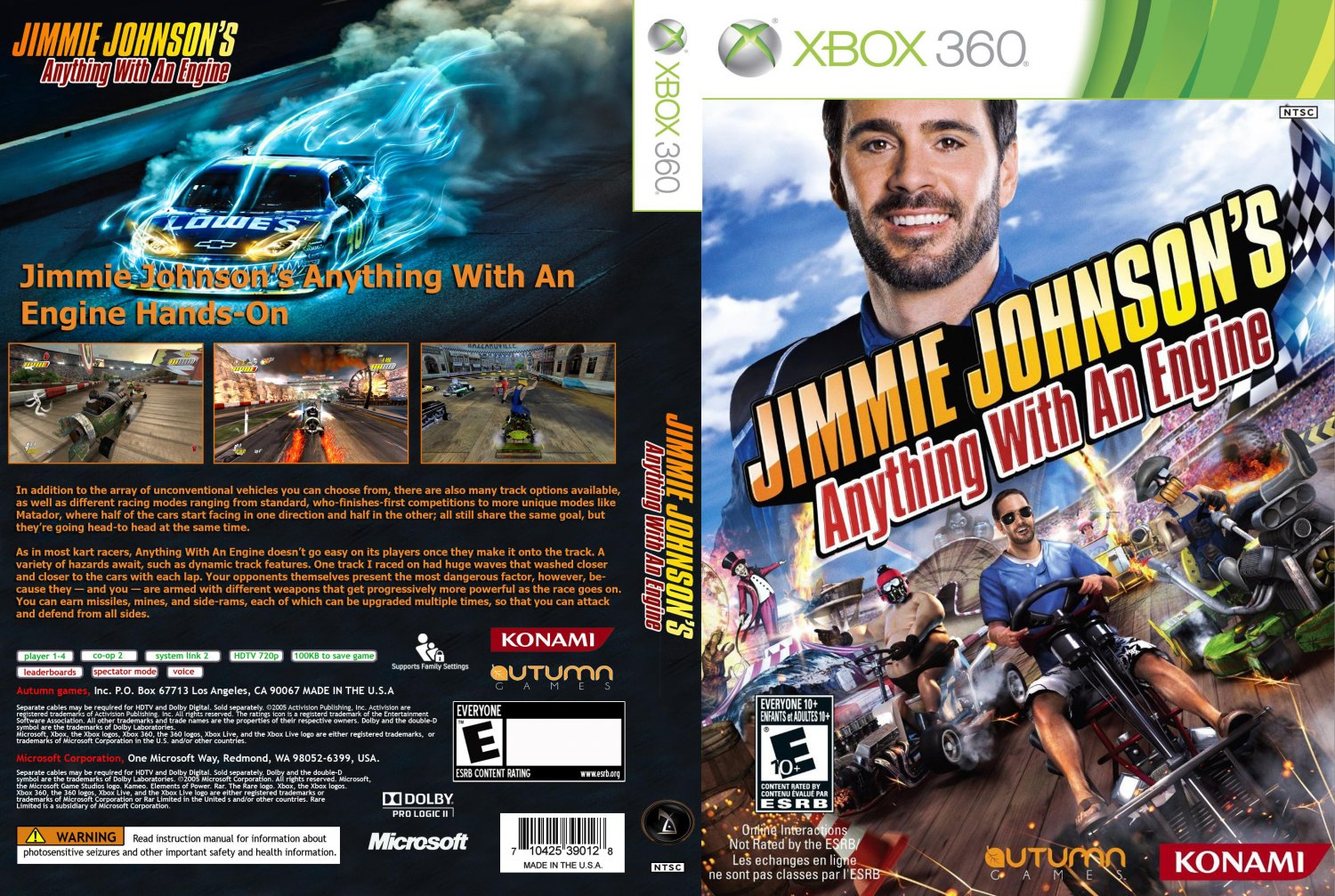 Jimmie johnsons anything with an engine xbox 360 game for Anything with a motor