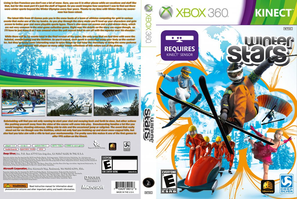 Winter stars microsoft xbox 360 video game new sealed 816819010075.