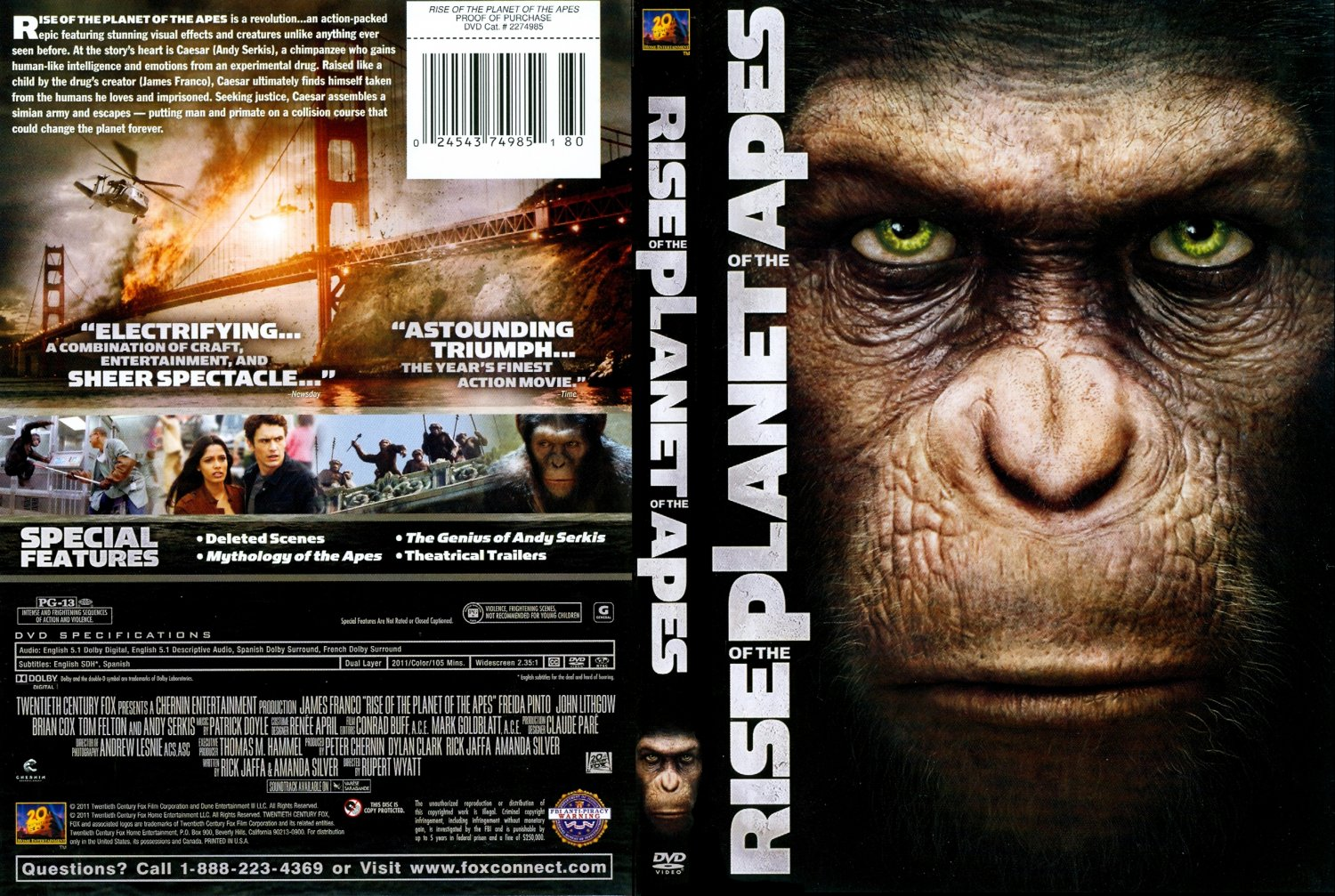 Rise Of The Planet Of The Apes (2011) - Action, Drama, Sci-fi