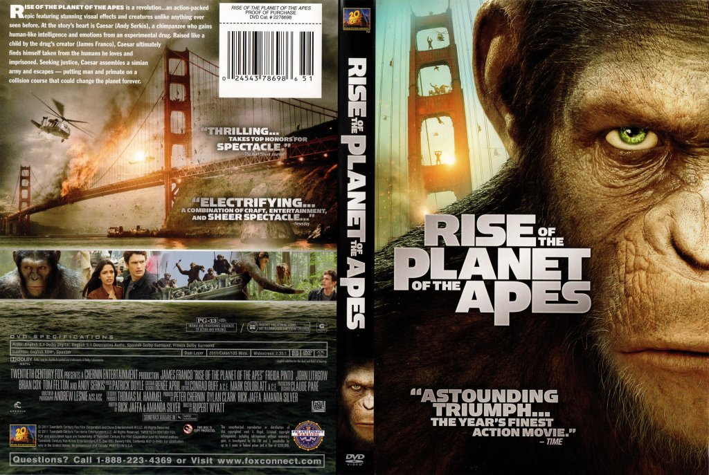 Rise of the Planet of the Apes - Movie DVD Scanned Covers - RISE OF