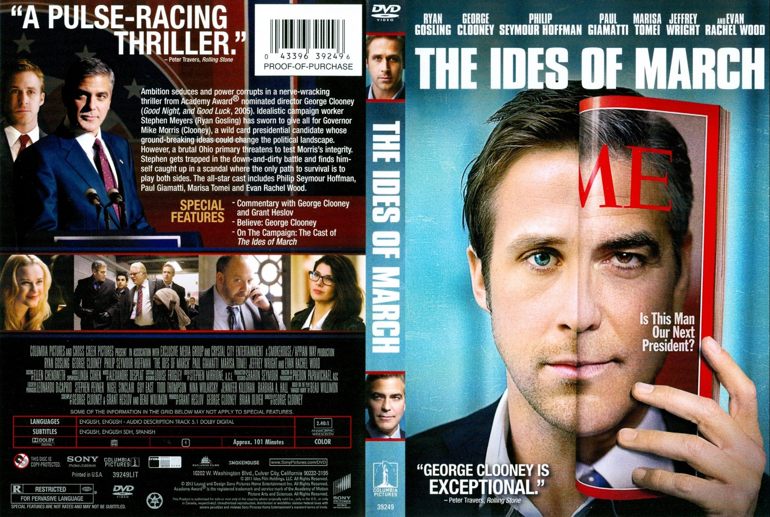 ... Of March - Movie DVD Scanned Covers - The Ides Of March :: DVD Covers