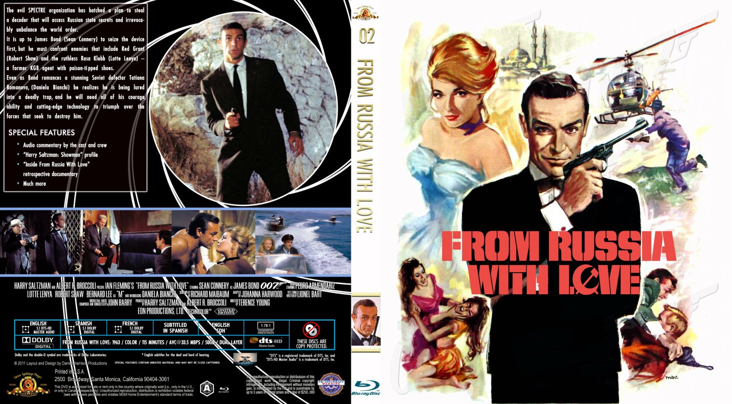 From Russia With Love - Movie Blu-Ray Custom Covers - FRWL Custom ...