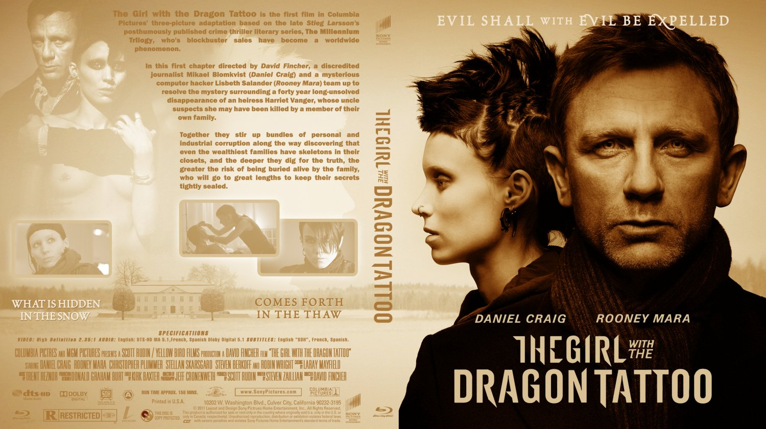 The Girl with the Dragon Tattoo Blu-ray Cover