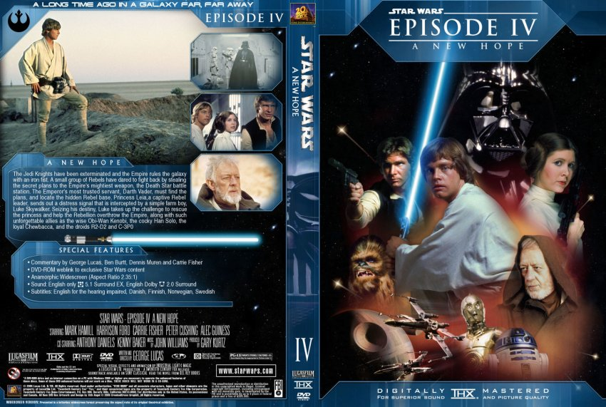 Star Wars Episode Iv A New Hope Movie Dvd Custom Covers 24564 A New Hope Sith Angel Custom Dvd Covers
