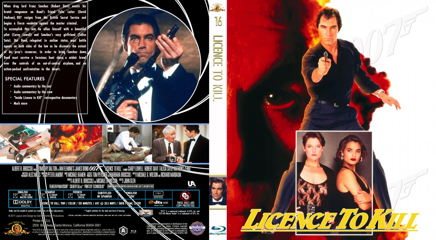 Licence To Kill - Movie Blu-Ray Custom Covers - Licence to ...