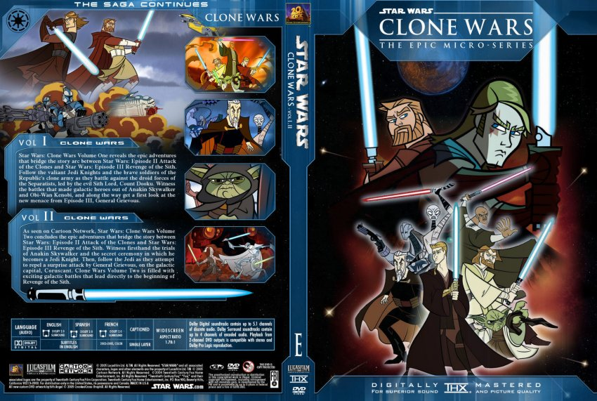 Star Wars The Clone Wars Movie Dvd Star Wars e Clone Wars Vol1