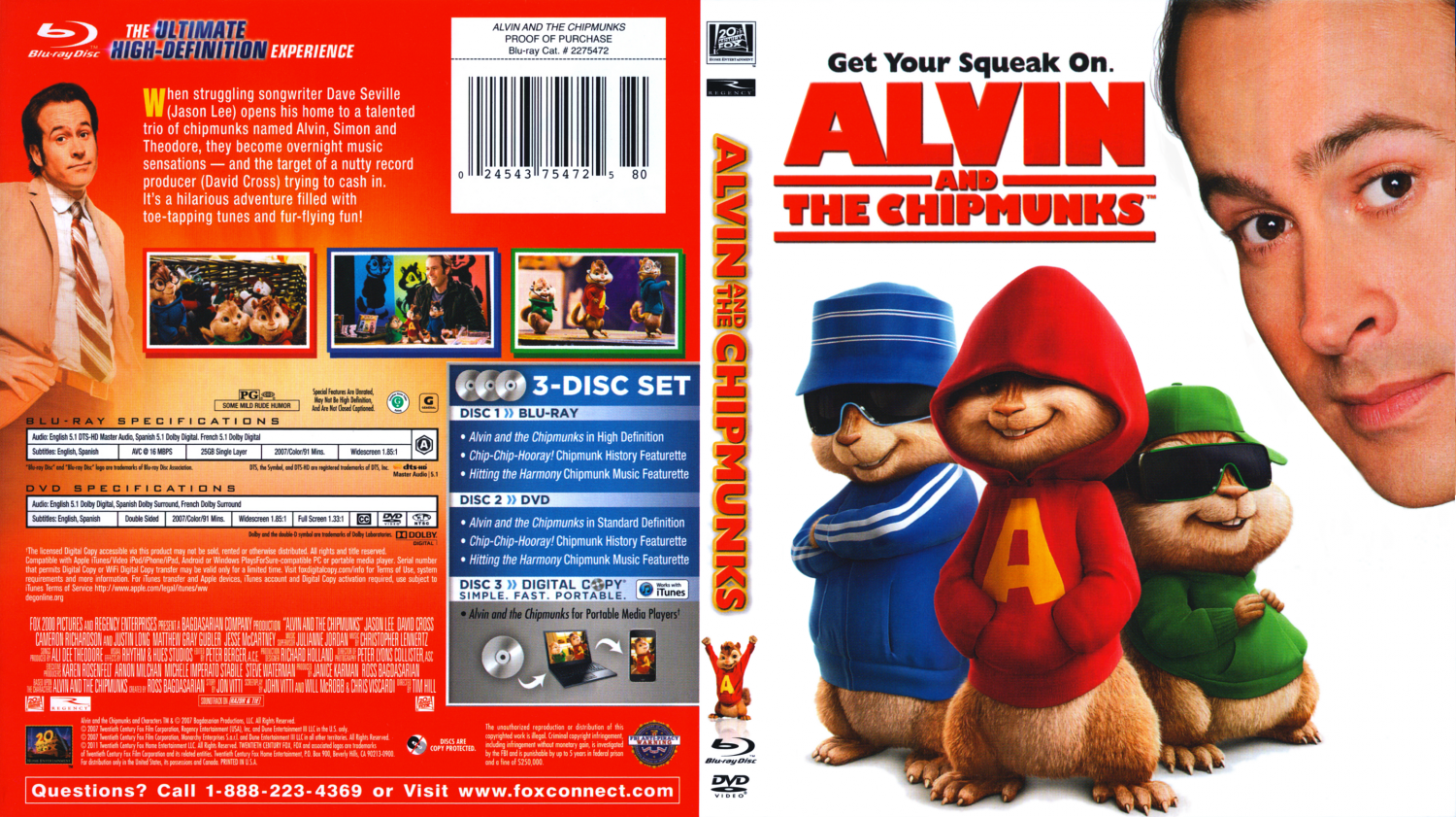 Alvin And The Chipmunks Movie DVD