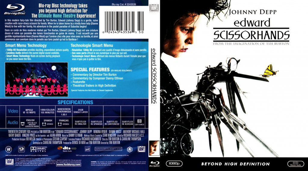 essays on edward scissorhands Stereotypes in edward scissorhandsin ann devine's essay edward scissorhands she states that edward scissorhands, directed by tim burtons, is full of stereotypes.