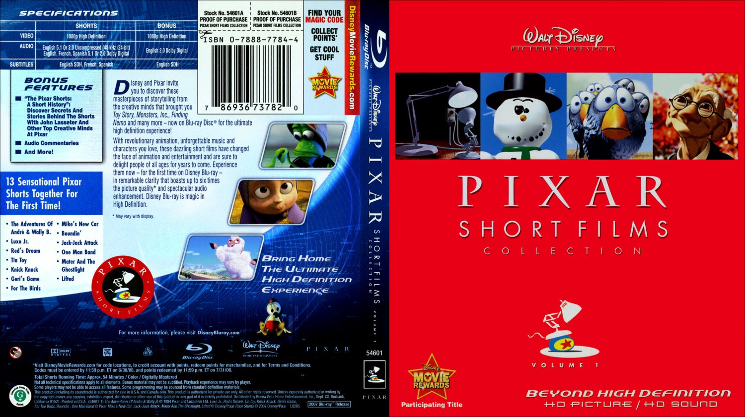 opening to pixar short films collection volume 1 dvd / bbc iplayer
