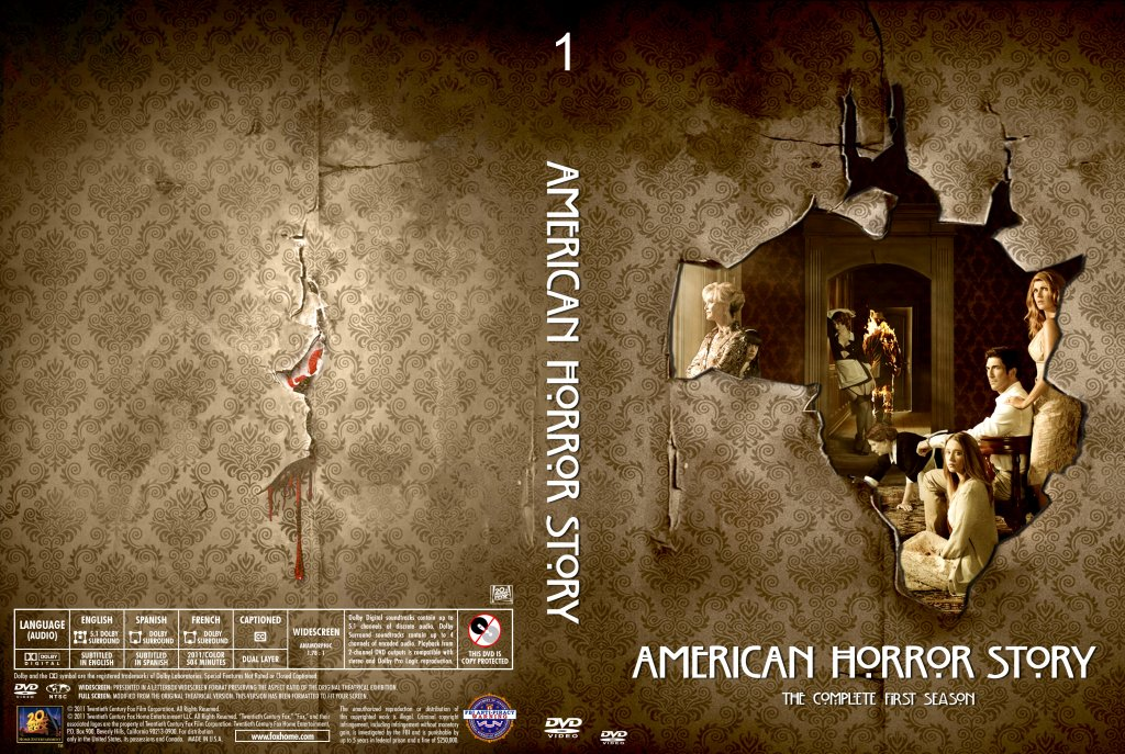 American horror story season 1 tv dvd custom covers ahs season 1