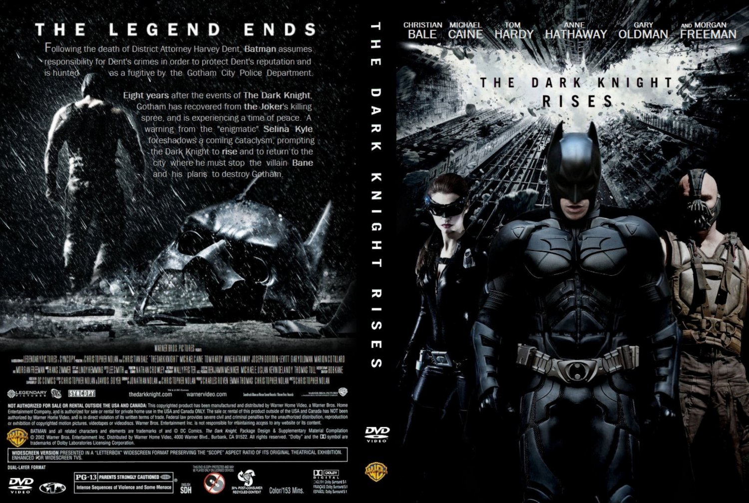 Dark Knight Rises Dvd Cover Batman The Dark Knight Rises
