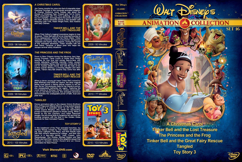 Walt Disney's Classic Animation Collection Set 16 Movie DVD Custom ...