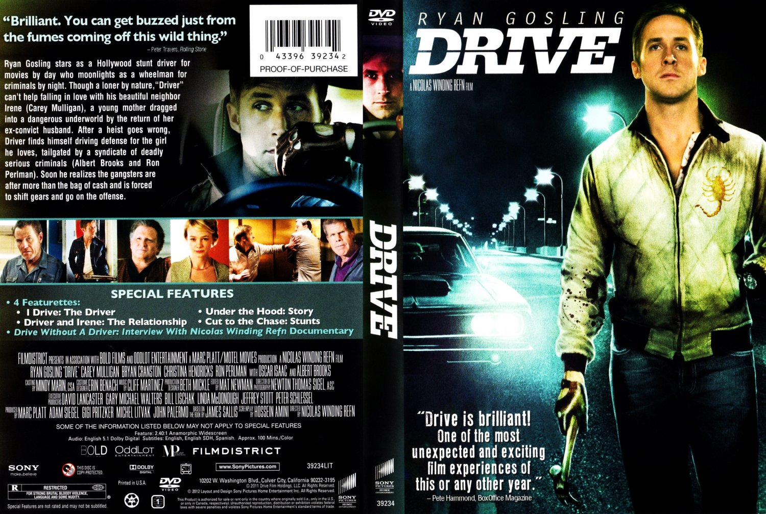 drive movie dvd scanned covers drive v2 dvd covers