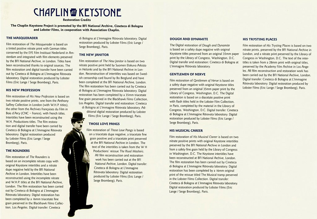 Chaplin At Keystone Disc 3