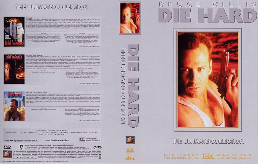Die Hard Ultimate Collection  Movie DVD Custom Covers