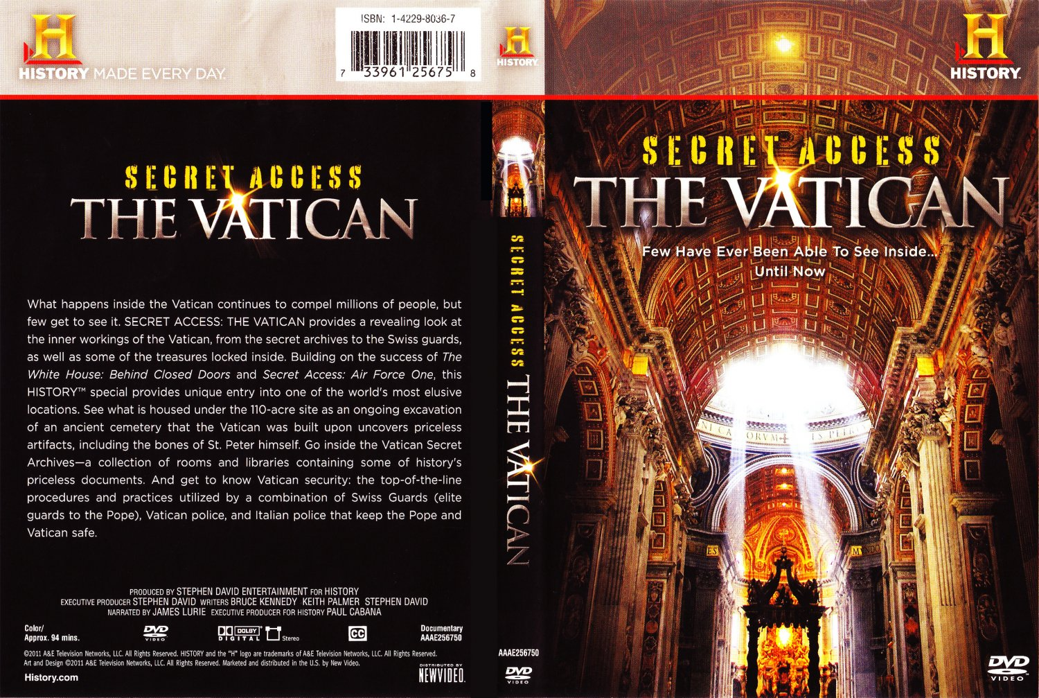 History Channel Secrets Of The Vatican Tv Dvd Scanned