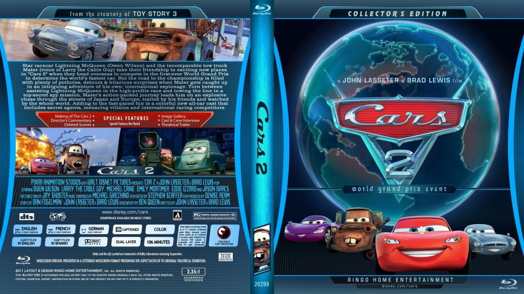 cars 2 movie blu ray custom covers copy of cars 2 blu ray cover 2011 dvd covers. Black Bedroom Furniture Sets. Home Design Ideas