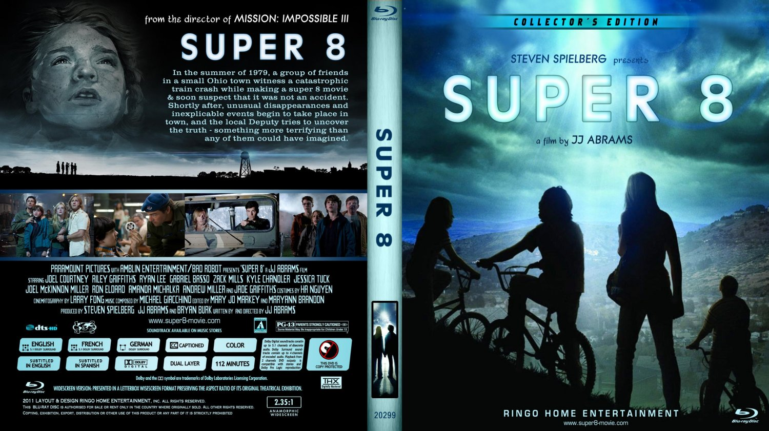super 8 movie blu ray custom covers copy of super 8. Black Bedroom Furniture Sets. Home Design Ideas