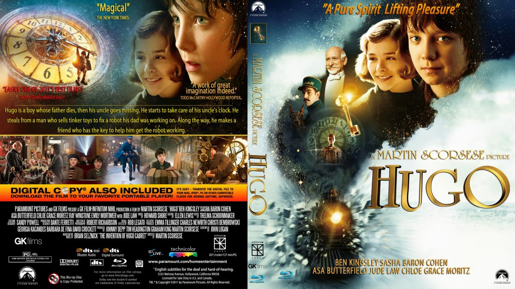 Hugo - Movie Blu-Ray Custom Covers - Hugo - Custom ...