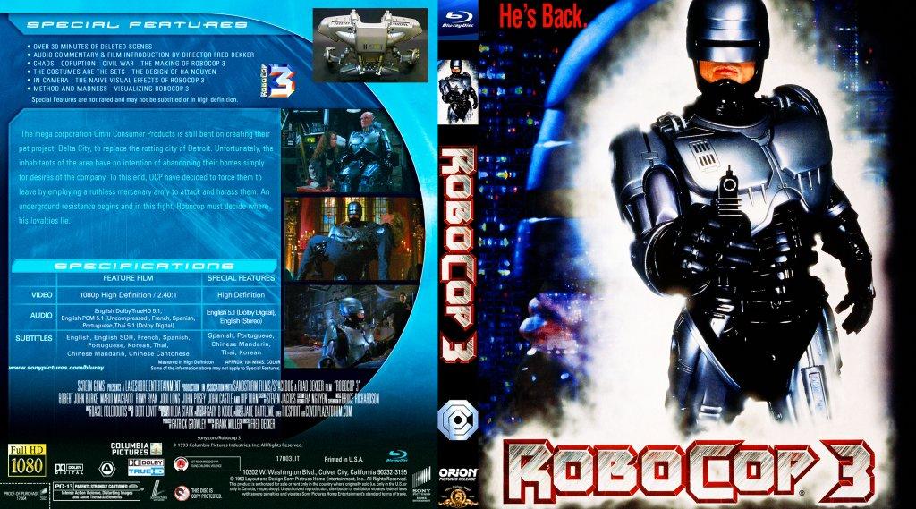 RoboCop 3 - Movie Blu-Ray Custom Covers - ROBOCOP 31 ...