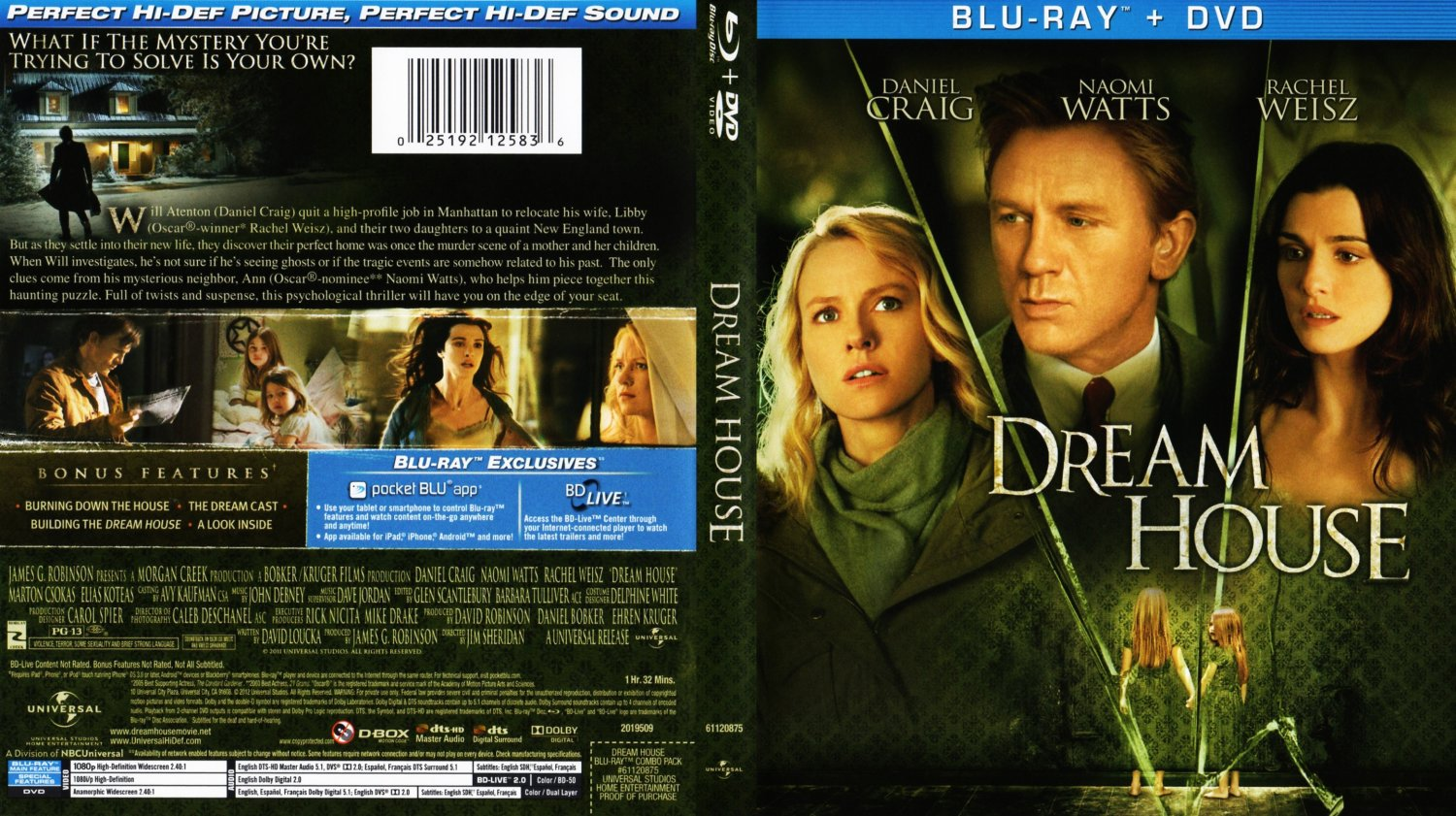 Dream House Movie Blu Ray Scanned Covers Dream House