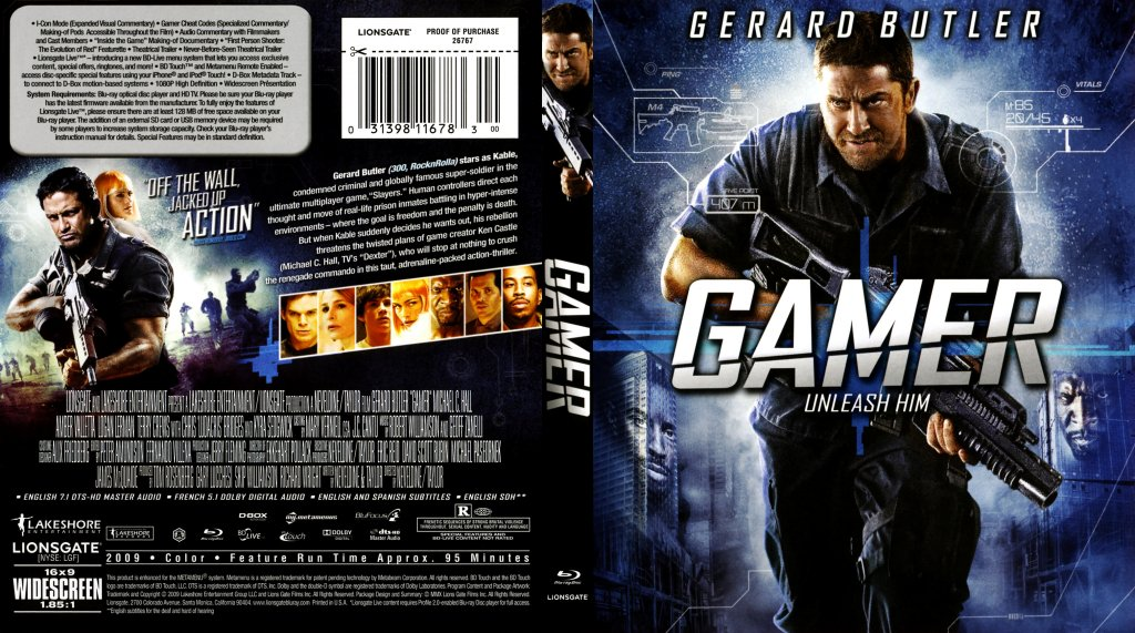 gamer movie blu ray scanned covers gamer blu ray cover. Black Bedroom Furniture Sets. Home Design Ideas