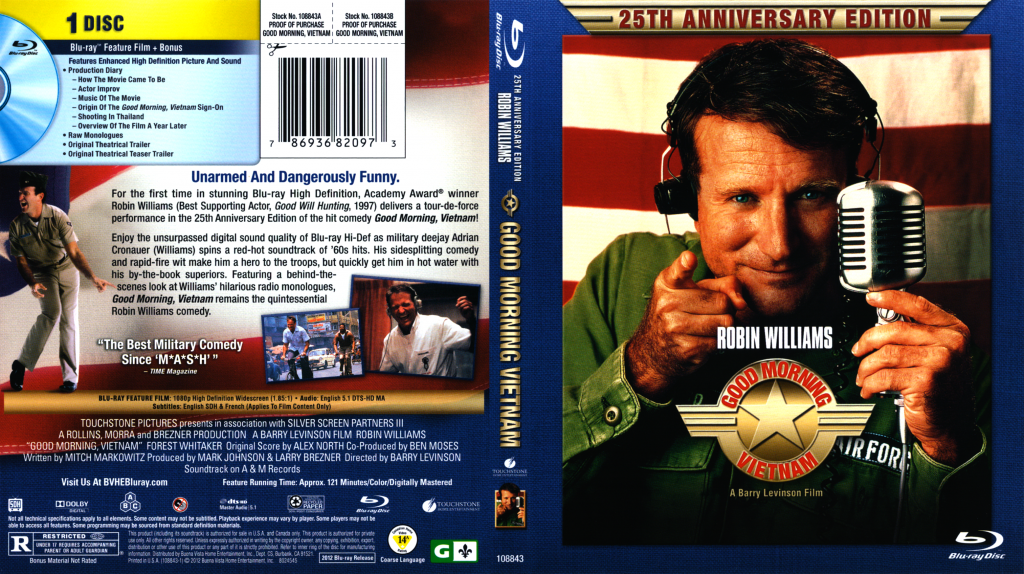 Good Morning Vietnam Drinking Game : Good morning vietnam movie blu ray scanned covers