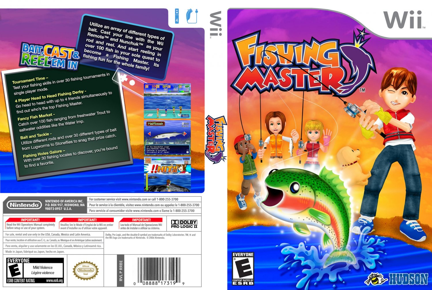 Fishing master nintendo wii game covers fishing master for Wii fishing games